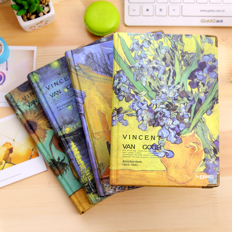 Hot Fashion Creative Van Gogh Color Page Notebook Vintage Planner