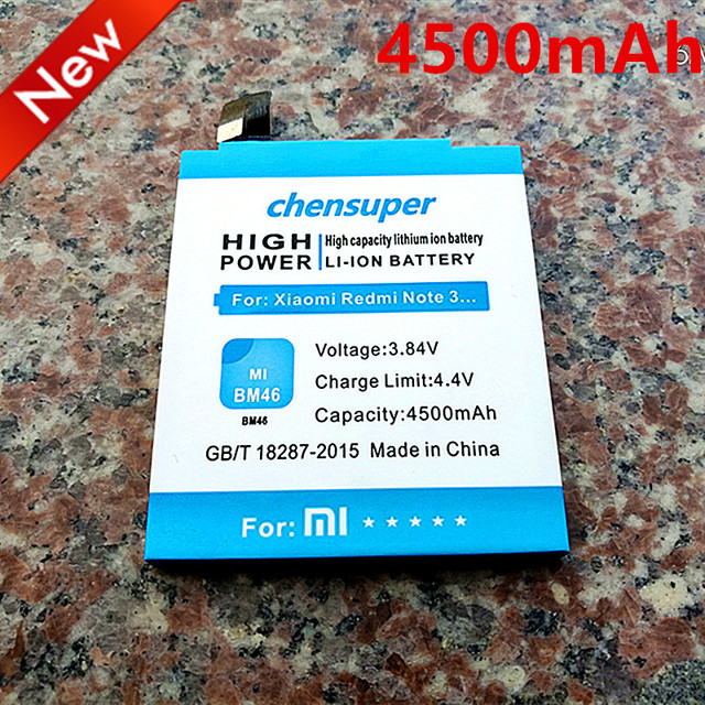 NEW 4500mAh BM46 Battery Use for Xiaomi Redmi Note 3 battery Xiaomi redmi Note 3 pro Note 3 Prime