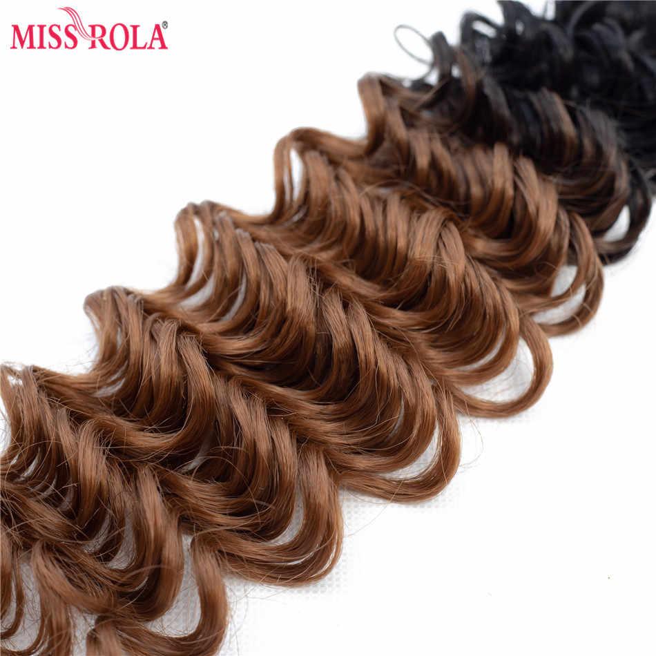 Miss Rola Ombre syntetyczne doczepy do włosów włosy mocno falowane w stylu brazylijskim wyplata doczepiane włosy T1B/30 z bezpłatnym zamknięciem 16-20 cali 6 sztuk/paczka 200g