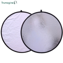 30CM/12'' 2 In 1 Portable Collapsible Round Photo Studio Light Reflector Portable Collapsible Photography Reflector For Camera цены