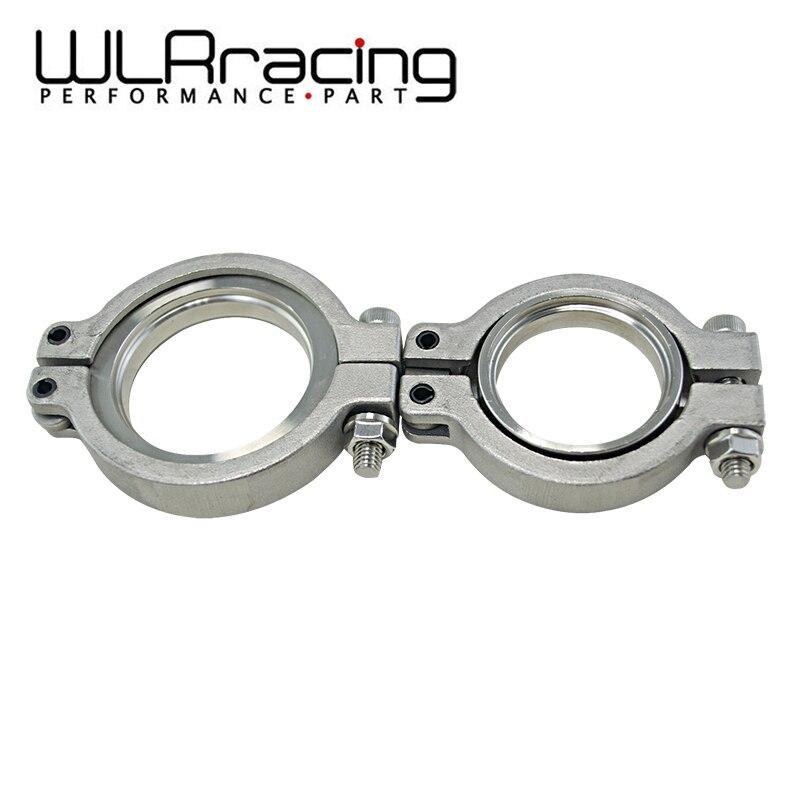 wlr racing aco inoxidavel v banda flang conjunto grampo para 44 milimetros mvr wastegate v kit