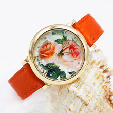 Shsby bright Leather Strap Watches Rose Gold Women Dress Watch girl flower Casual wristwatch Lady Rhinestone Quartz Watch 01