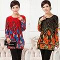 Novo 2017 de venda quente nova chegada t camisa inverno da longo-luva casual t-shirt das mulheres impressas camisola mulheres mulheres inverno clothing
