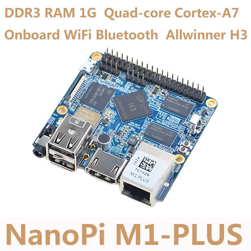 Carte de développement NanoPi M1 Plus Allwinner H3 4 K Play Quad-core Cortex-A7 à bord WiFi Bluetooth Compatible Raspberry Pi