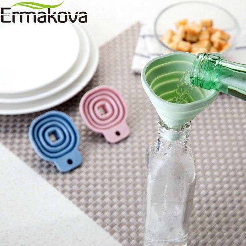 Ермакова Складная воронка силиконовая Складная воронка для бутылки с водой бункера складной кухонная вытяжка для жидкая пудра передачи