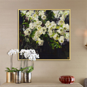 Hand Painted Oil Painting  Flower Canvas wall art canvas Pictures for living room home decor cuadros decoracion 3