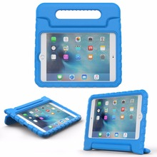 MoKo caso iPad Mini 4 chico a prueba de golpes de manejar luz peso Super soporte protector funda para Apple iPad Mini4