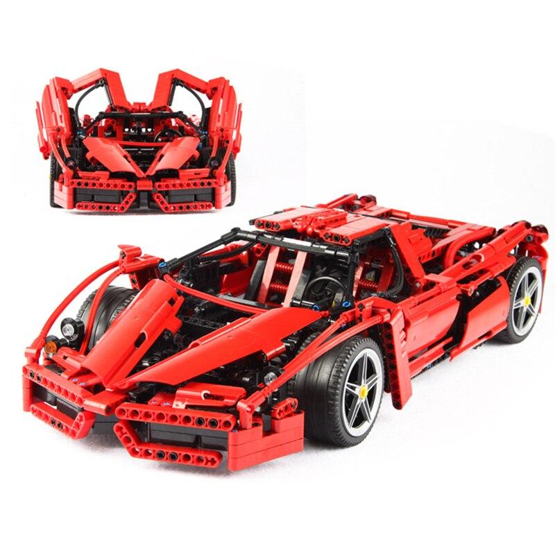 Bela 9186 Enzo 1:10 Modèle De Voiture Building Block Sets 1359 pcs Éducation Jigsaw DIY Construction Briques Cadeau bloc jouets 8653
