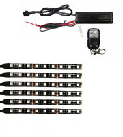 6pieces 5050 SMD Universal Car Motorcycle LED Glow Flexible Under Strip Flash Light With Remote Controller