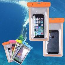 Красочные Водонепроницаемый Подводный Сумка Обновления Чехол для iPhone 7/7 Плюс 6/6 s/Плюс 5/5S Для Samsung Galaxy Note 7 5 S7 S7edge