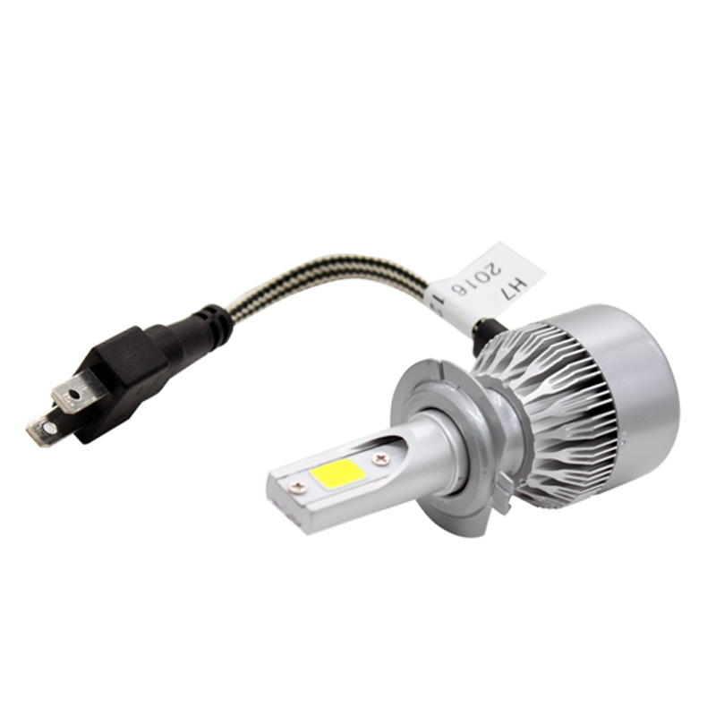 2 Unids / par Hight Bright Car LED Faro H7 COB Chip 8-48v DC 72W - Luces del coche - foto 6