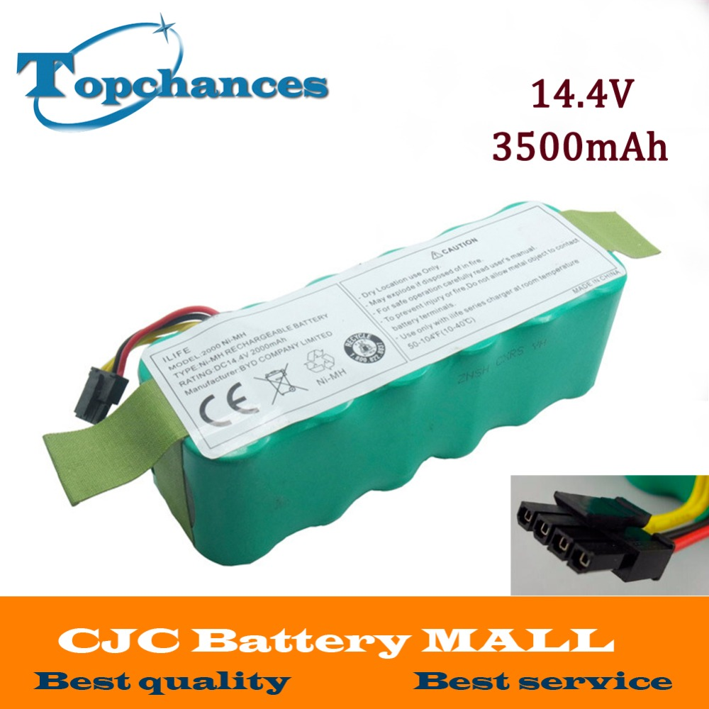 NI-MH 14.4V 3500mAh Battery for Panda X500 X600 Vacuum Cleaner Battery for Ecovacs Mirror CR120 And For Dibea X500 X580 battery