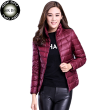 2018 Autumn Winter Jacket women Plus Size Womens Parkas Thin Outerwear solid Coa