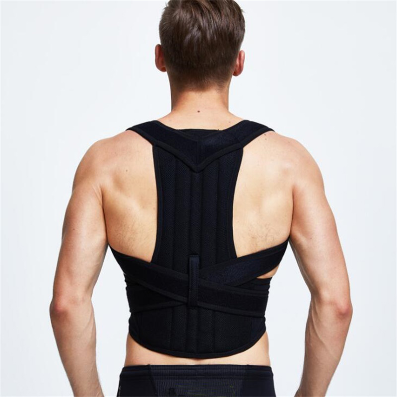 B003 Adjustable Posture Back Support Corrector Brace Magnetic Shoulder Band Belt Men Women Braces & Supports Belt Aofeite men women adjustable posture corrector belt braces support body back corrector shoulder health care 611