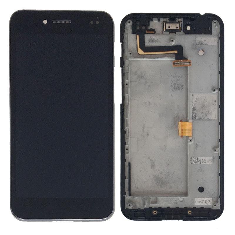 Prix pour Nouveau Noir Écran lcd Tactile En Verre Digitizer Assemblée Avec Cadre Pour Asus PadFone S LTE PF500KL Remplacement