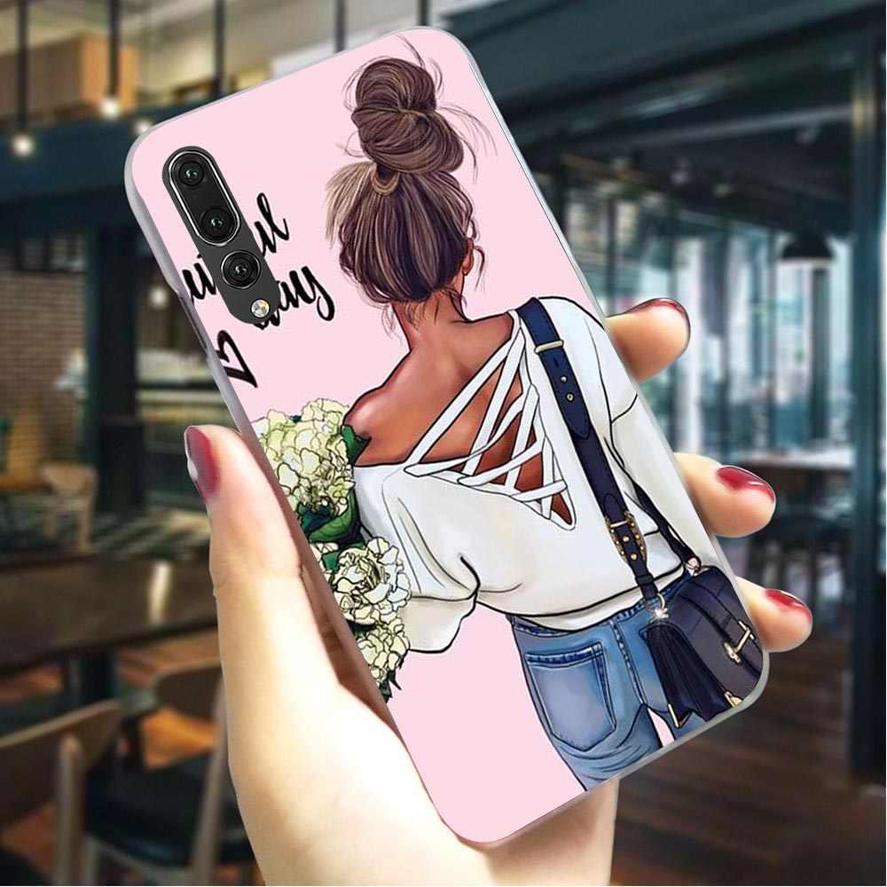 Funda del teléfono para Huawei P9 Lite Mini bebé mamá Reina Niña cubierta P9 Lite/Mini/P10 20 30 Lite pro P Smart Mate 10 21 Lite Pro