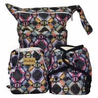 Night Owl Purrrrfect O N E Diapers Combo Couche Lavable Swim Diaper Wet Bag