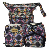 Night Owl Purrrrfect O.N.E. Diapers Reusable (Couche Lavable+Swim Diaper+Wet Bag)
