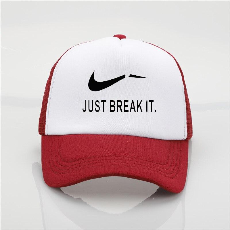 Moda sombrero sólo romper impresión red gorra de béisbol hombres y mujeres  verano tendencia nueva juventud Joker sol playa del sombrero del visera ef04801ad99