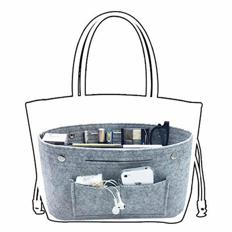 SAFEBET Obag Handbag Felt Cloth Inner Bag Women Shoulder Bags Multi-pockets Storage Cosmetics Organizers Bag Luggage Accessories
