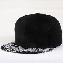 White Paisley Pattern Black Hat New Fashion Outdoor Man Women Summer Baseball