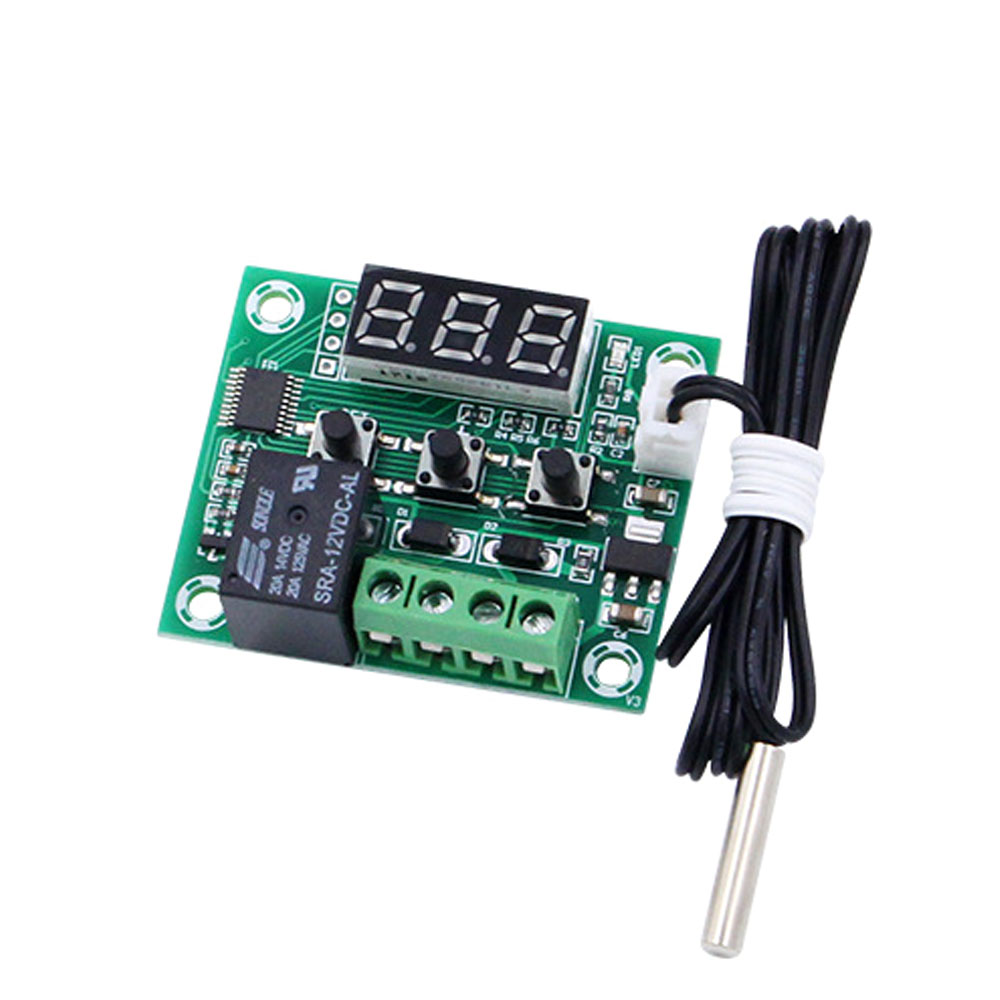 New W1209 Digital Temp Thermostat Temperature Controller Sensor Relay Switch in Feeding Watering Supplies from Home Garden