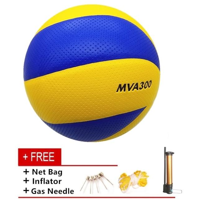 Venta al por mayor o al por menor de la PU suave pelota de voleibol MVA330 tamaño 5 playa formación voleibol interior de compra de voleibol gratis de la bomba