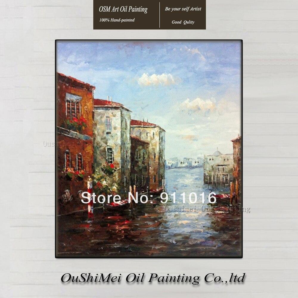 Oil paintings venice promotion achetez des oil paintings - Peinture bonne qualite ...
