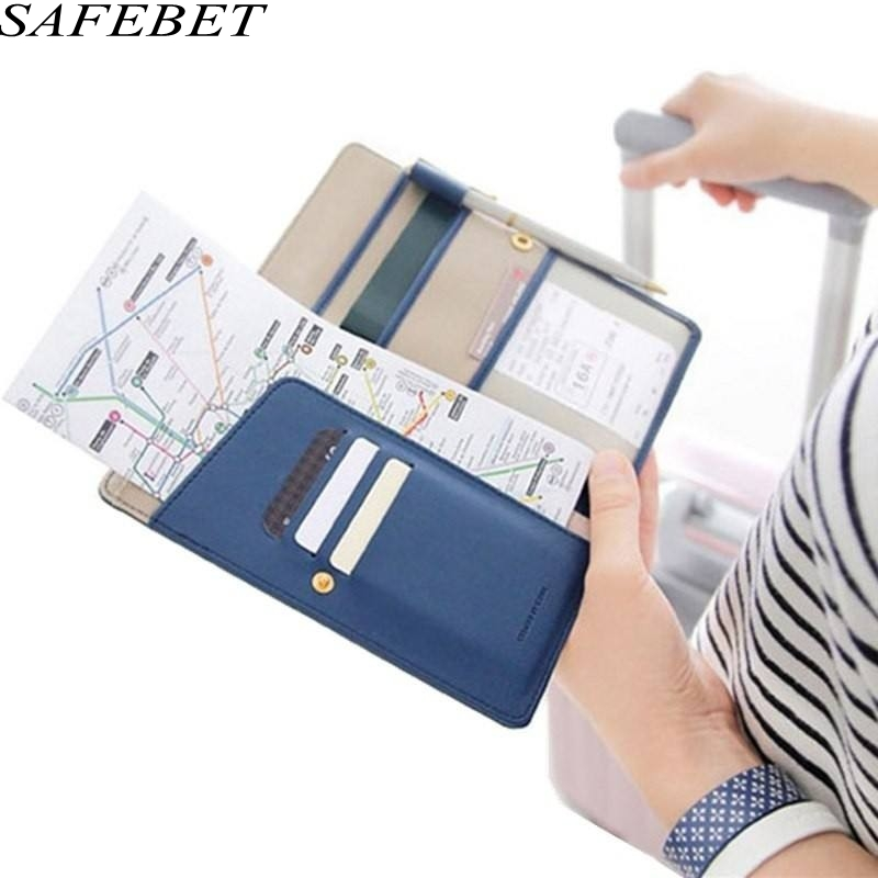 SAFEBET Brand Men High Quality PU Leather Card Package Women Travel Organizer Credit Card Holder Card Pack Passport Package women travel organizer passport holder card package credit card holder wallet document package fashion multi pockets card pack
