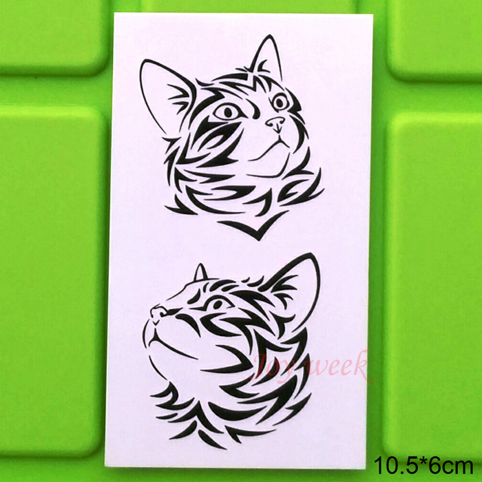 Waterproof Temporary Tattoo Sticker Cool Cat Tattoo 10.5*6 Cm Tatto Stickers Flash Tatoo Fake Tattoos For Girl Women Men