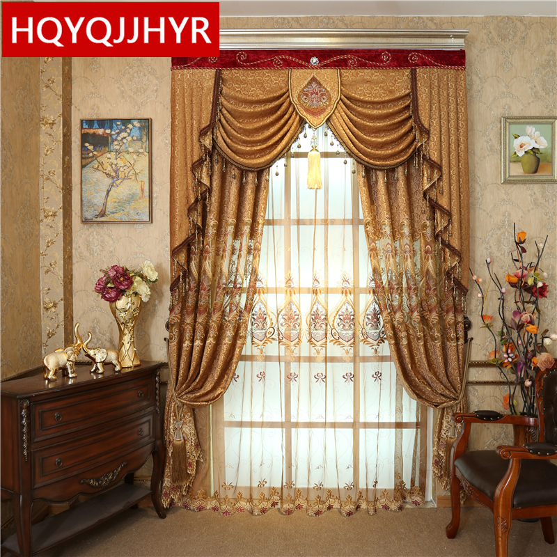 aliexpress : buy brown european luxury villa embroidered curtains for living room/ kitchen