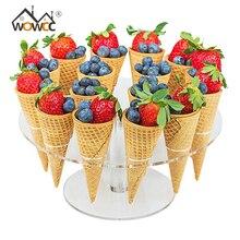 8 отверстий мороженое конфеты акриловый держатель кекс мороженое держатель для Рожков подставка для свадебной вечеринки буфет дисплей кухонный инструмент