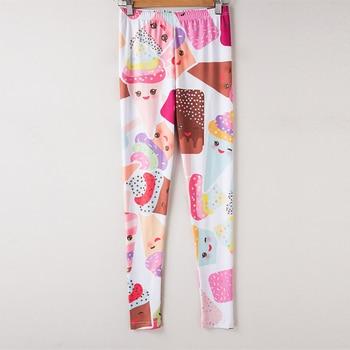 Pink White Cake Dessert Ice Cream Leggings Sexy Summer Leggings Women For Fitness Leggins Elastic Push Up Slim 2017 3D Printing 6