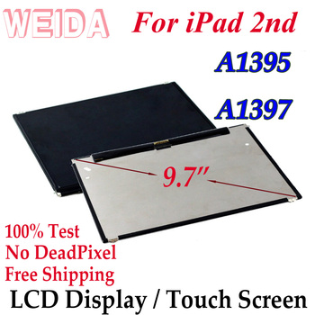 WEIDA LCD Replacement 9.7 For iPad 2 A1395 A1397 LCD Display Touch Screen Digitizer Glass Assembly Replacement netcosy for ipad 2 a1376 a1395 a1397 a1396 tablet lcd display screen perfect replacement parts digital accessory for ipad 2