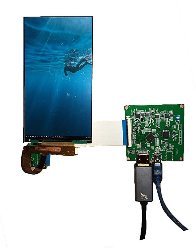 6 Inch 2560*1440 2K LCD Module Screen 3D LCD Printer VR Virtual Reality DIY DLP SLA Monitor UV Curing Projector Kit SLA Display