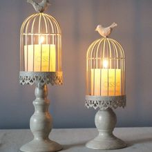 Metal Hollow Candle Holder Stand Tealight Candlestick Lantern Wedding Classical birdcage candlestick Home Decor