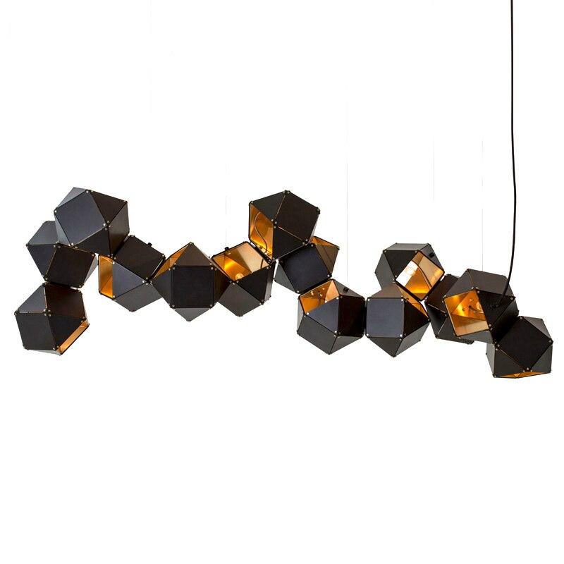 Ditoon постмодерн светодио дный подвесной светильник Designer'S освещения Ресторан студия Металл лампы ДНК Творческий светильник белый черный бле...