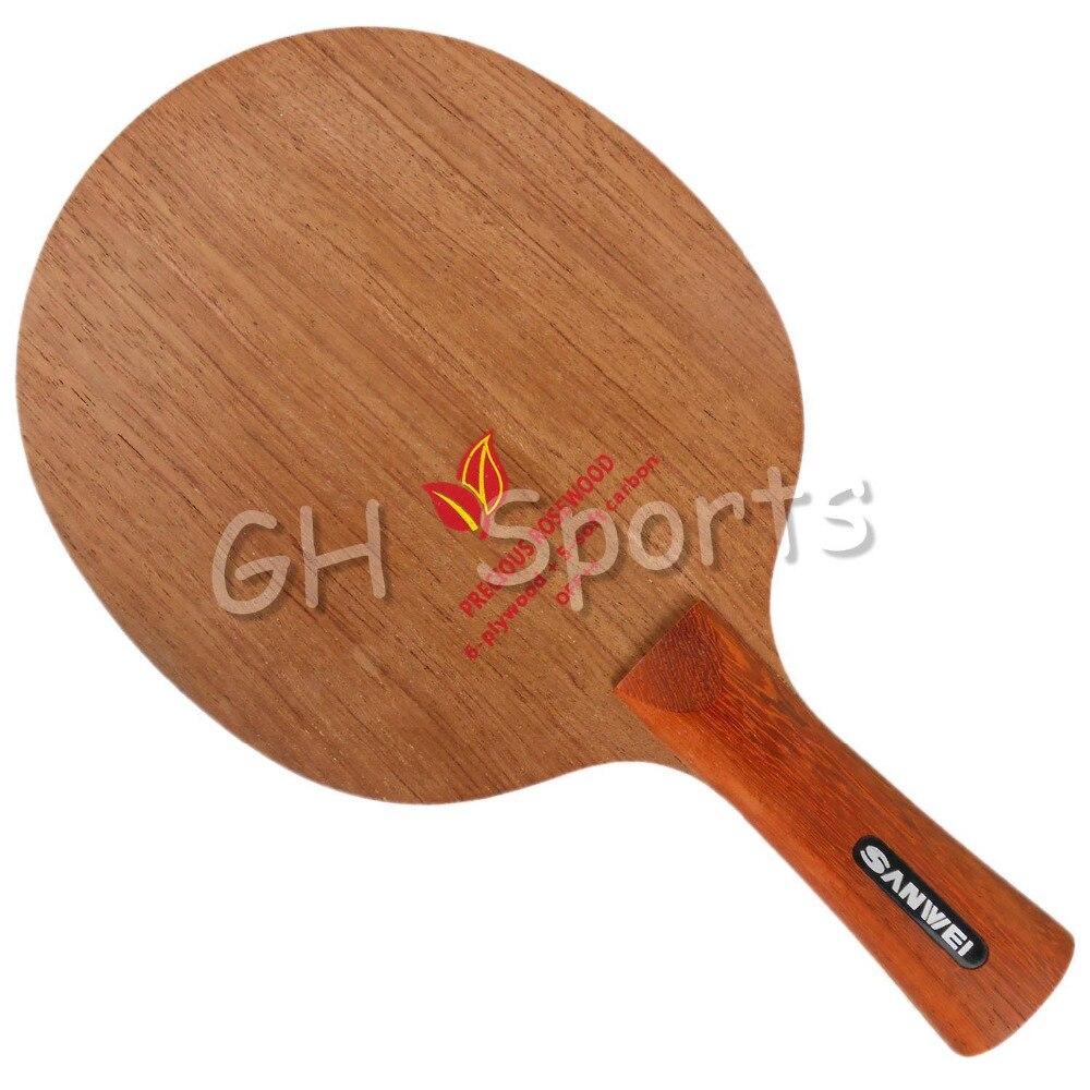 Sanwei H2 H 2 H-2 palissandre 6 contreplaqué + 5 doux carbone OFF + + lame de Tennis de Table pour raquette de ping-pong