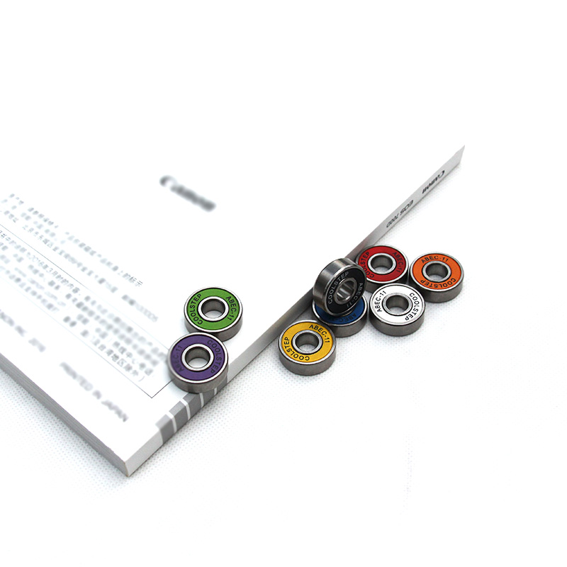 Free Shipping 2rs Skateboard 8pcs Bearing Abec9 Multicolor Tablas De Skate Bearing 608 For Skating