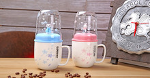 1PC Creative Ceramic Cup Personality Mug milk Coffee Tea Home Office Drinkware cup With Plastic lid and spoon NQ 009