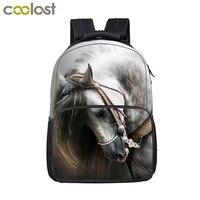 Animal Horse / Lion / Tiger / Wolf / Owl Backpack Women Men Casual Bag Teenage Boys Girls Children School Bags Student Backpack