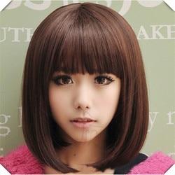 Blonde short wig women s cute fringe straight bob cosplay wig heat resistant full hair blonde.jpg 250x250