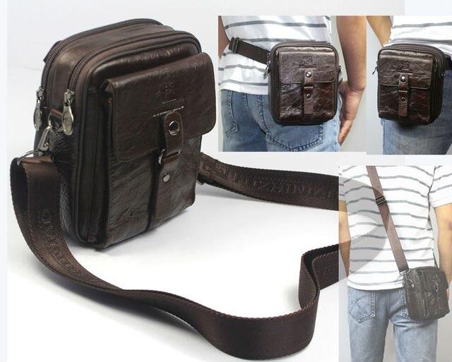 Vintage 4USE Men leather waist pack fanny pack Genuine leather waist bag belt bag Men crossbody bag small Shoulder bag Brown