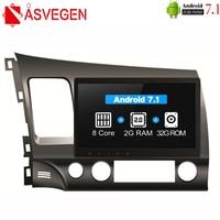 Asvegen 2G 32GB Octa Core Car DVD Player For Honda Civic 2006 2011 Car 2 Din