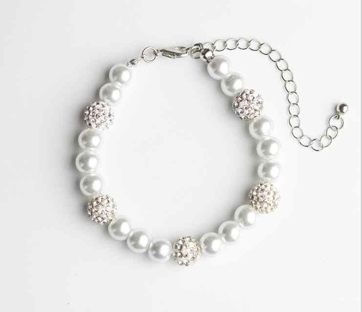 Модные жемчужные браслет с нежной кристаллы браслет просто стиль повесить цепь Мода украшения для Для женщин девочек