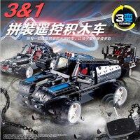 Legoed Assenbly Blocks Remote Control Car Telecar Legoing vehicle model Electric building kits blocks toy christmas gift Lepins