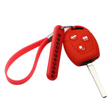 Silicone Car Case Keychain Key-Holder-Cover Number-Card Fusion-Suit Fiesta Ford Focus