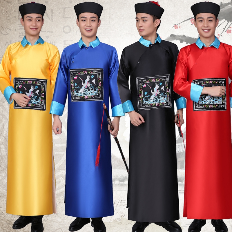 Halloween Cospaly Costumes Chinois Qing Dynastie Costume Mâle Robes Zombie Vêtements Adulte Chinois Traditionnel Vêtements Anciens