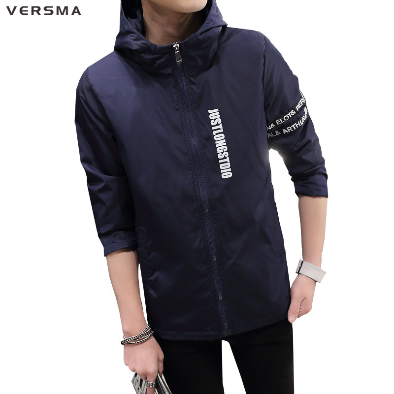 versma autumn winter fashion casual men jacket coat letter print male winter jacket streetwear stylish mens jackets coats 3xl