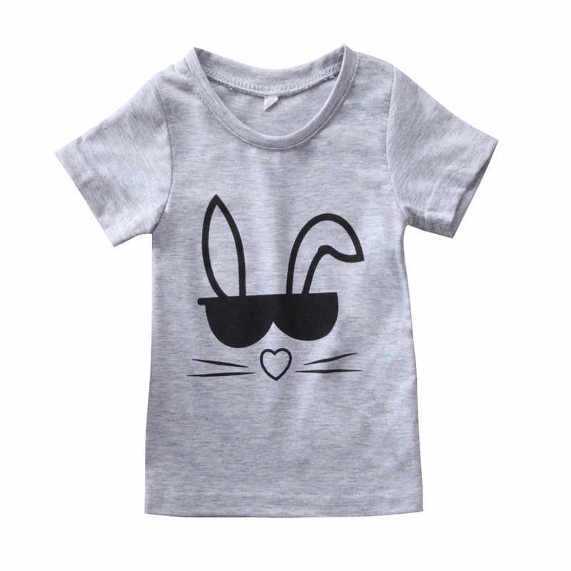 Trajes a juego de madre e hijo camiseta Linda conejo Niño bebé niñas niños familia juego camiseta Tops trajes